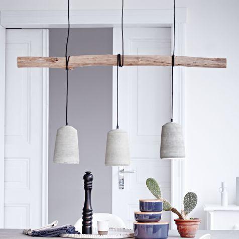 Ceiling light, nature look, branch, concrete umbrellas Catalog picture   - sjsjs...,  #branch... #pendelleuchteesstisch