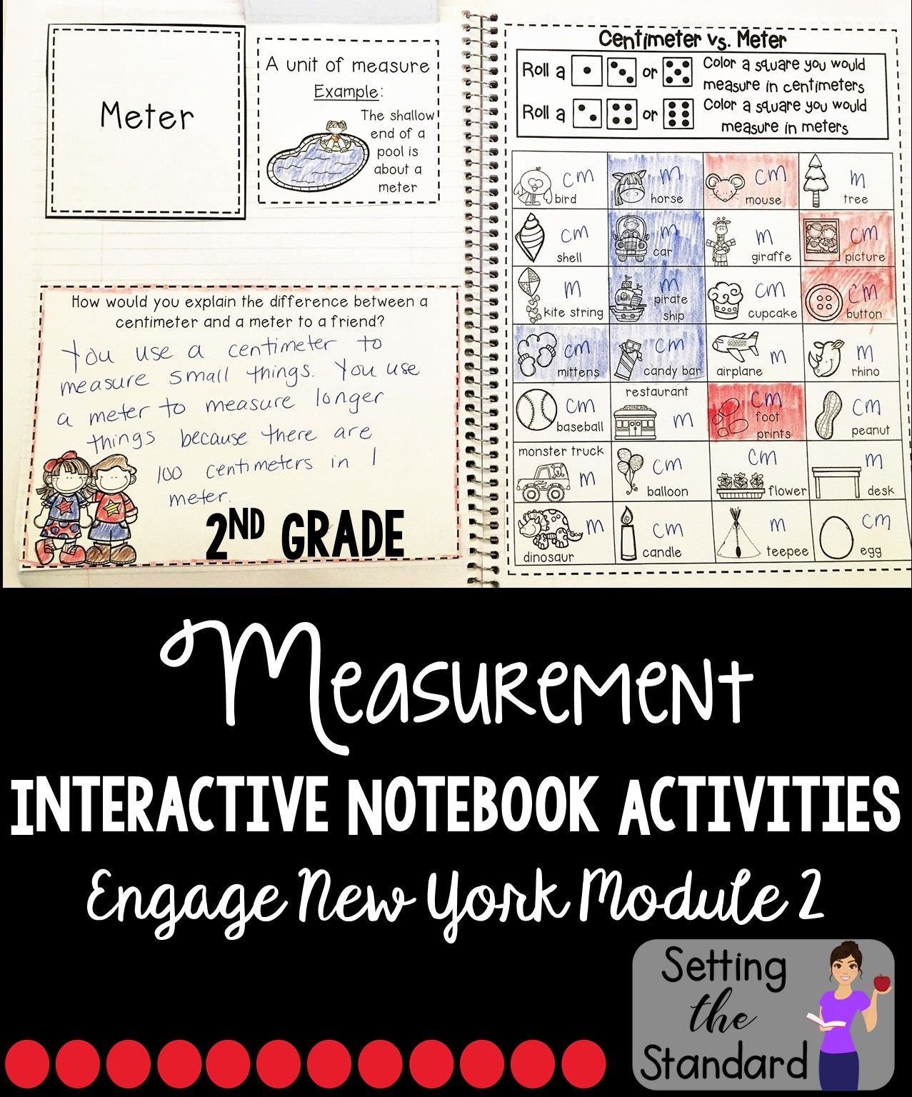 Math Interactive Notebook Grade 2 Module 2 Measurement