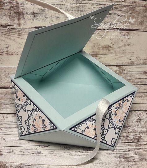 medaillon auf diamantbox mit anleitung origami box. Black Bedroom Furniture Sets. Home Design Ideas