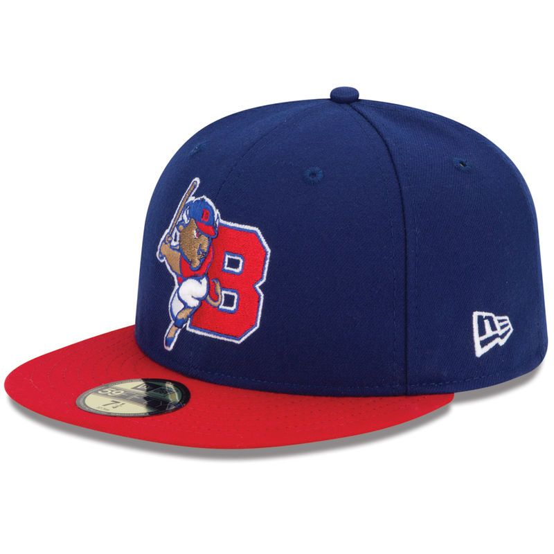 Buffalo Bisons New Era Authentic Collection On-Field 59FIFTY Fitted Hat -  Navy Red 61963a76509