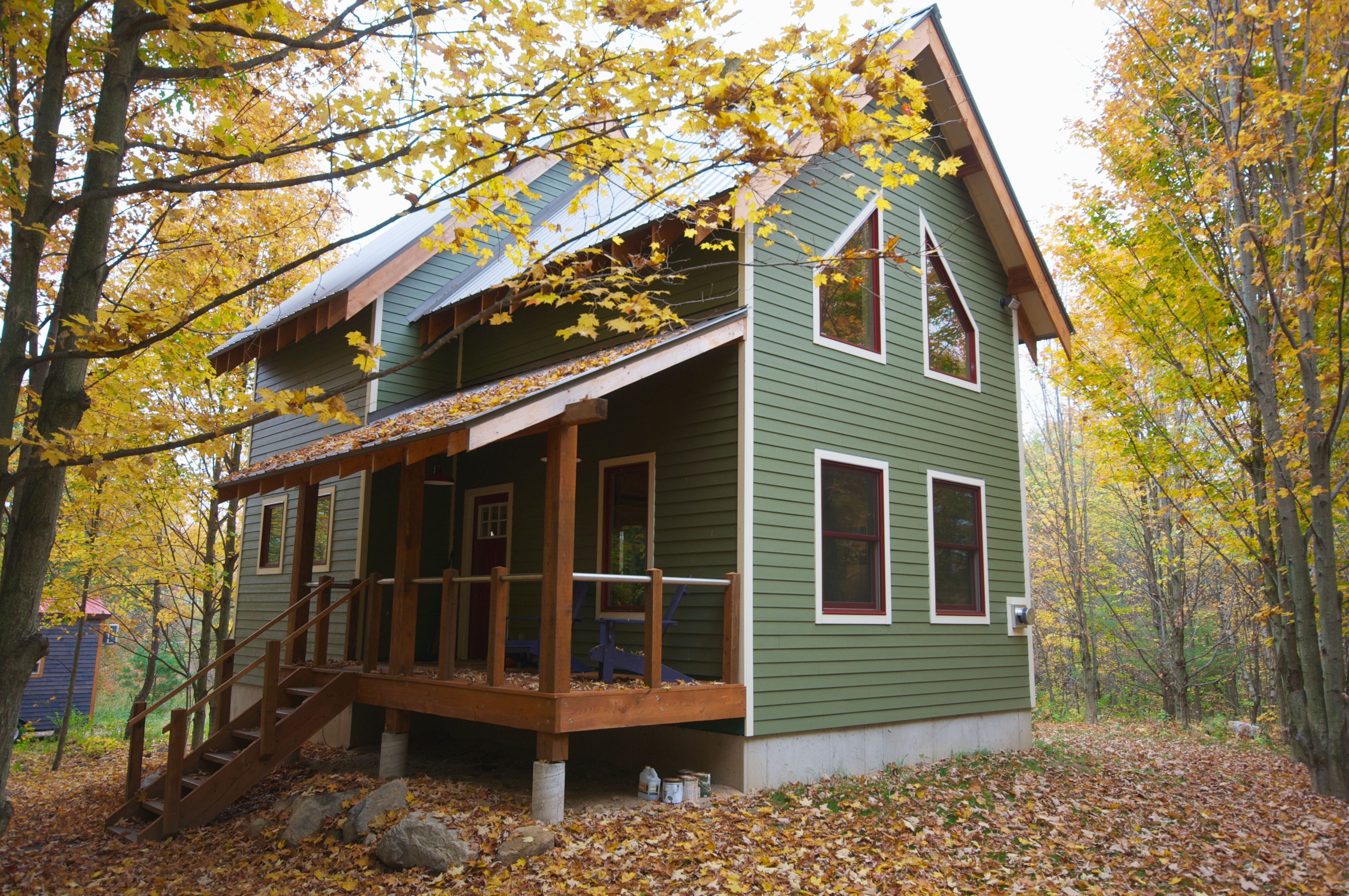 Green house in the woods 1 200 sq ft 2 bedroom loft 2 bath 3 story home bear creek - Small green home designs ...