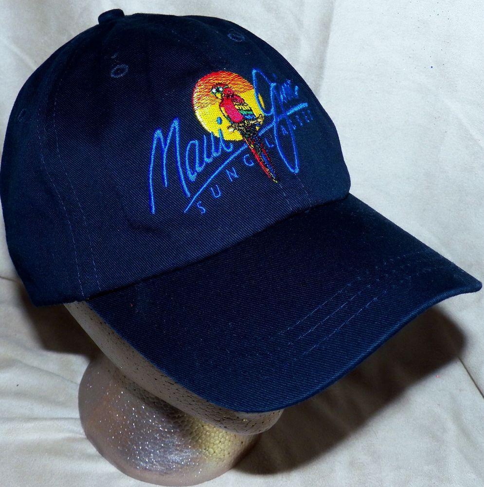 363cfe67ab3 Maui Jim Sunglasses Parrot Logo Navy Baseball Hat Cap Farenheit Headwear   MauiJim  BaseballCap