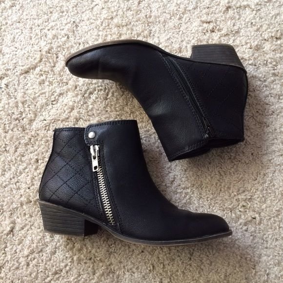 Madden Girl Booties Black Madden Girl Booties; worn a few times. Madden Girl Shoes Ankle Boots & Booties