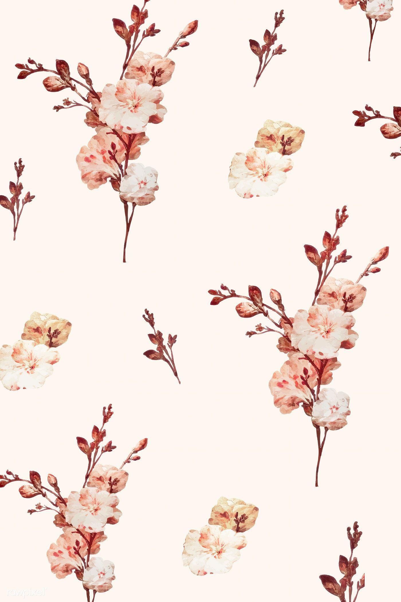Vintage Floral Background Illustration Vector Premium Image By