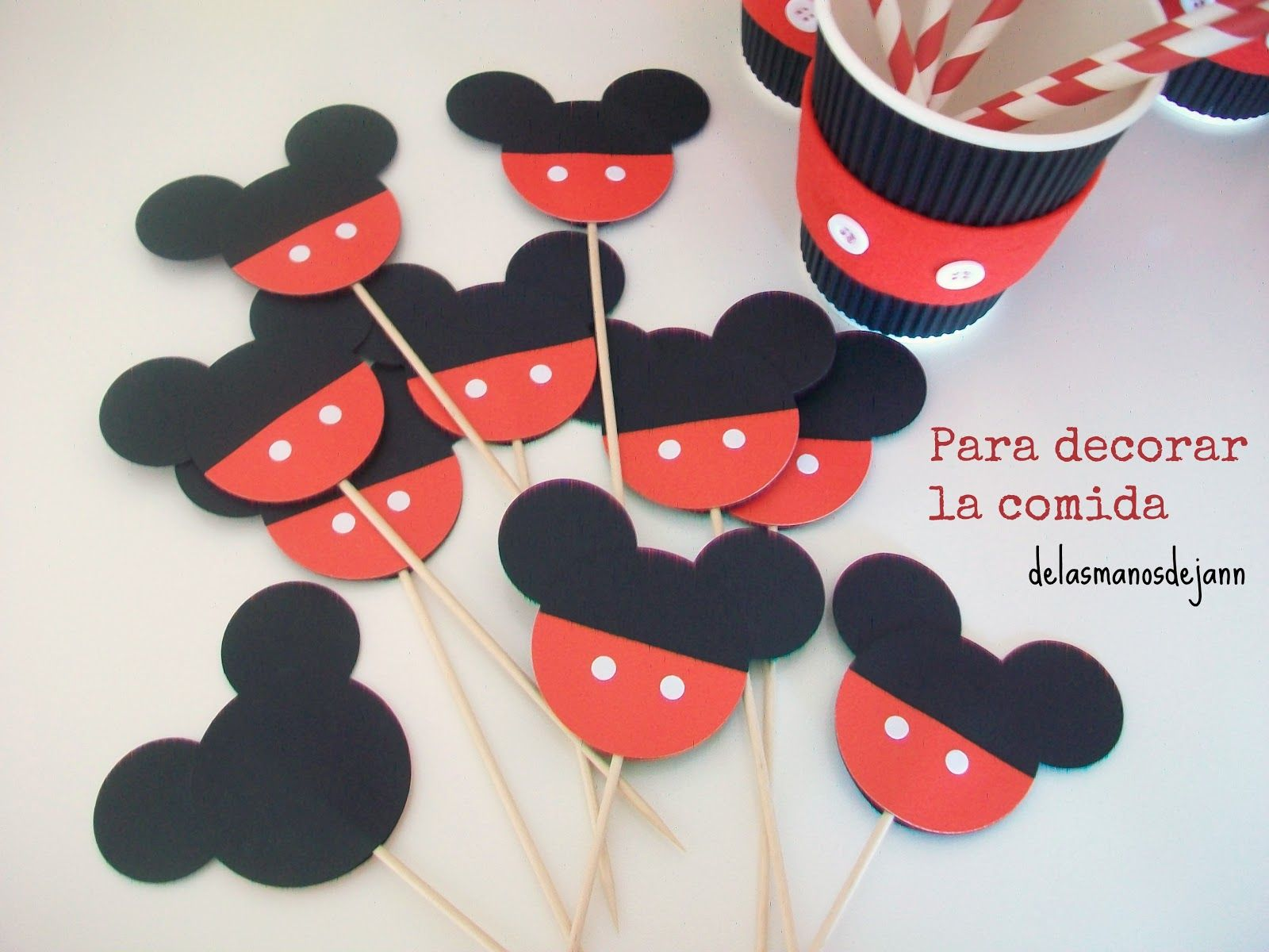 topes decorativos para cupcakes De las manos de Jann ...