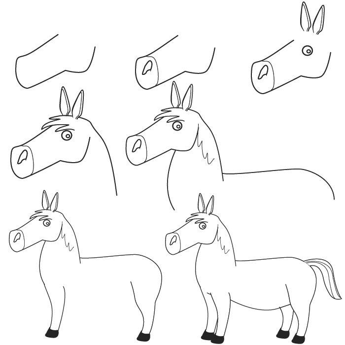 dibujos caballo | Dibuja | Pinterest | Caballos, Dibujo y Dibujar