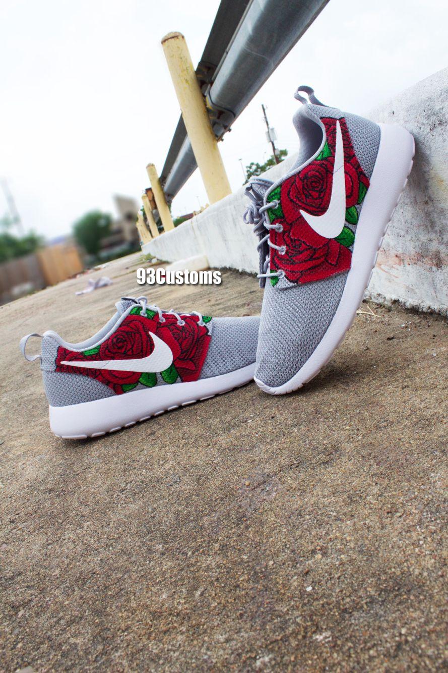 7540c30e2e34 Custom Hand Painted Nike Triple Rose Roshe Runs! Make sure to follow on  Instagram