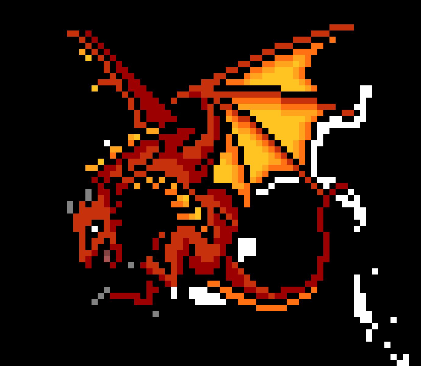Dragon Pixel Art Cerca Amb Google Pixel Art Pixel Art Licorne Photo Dragon