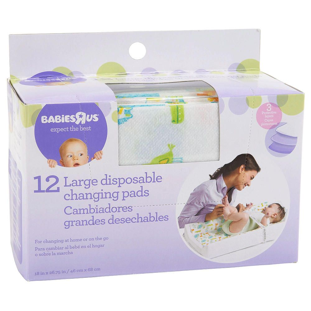 Babie R Us Large Disposable Changing Pads 12 Pack Babies R Us
