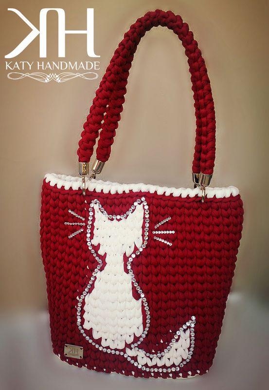 Katy Handmade Maxi Crochet Bag Ssa Borse Uncinetto Fettucccia Tote Quilt