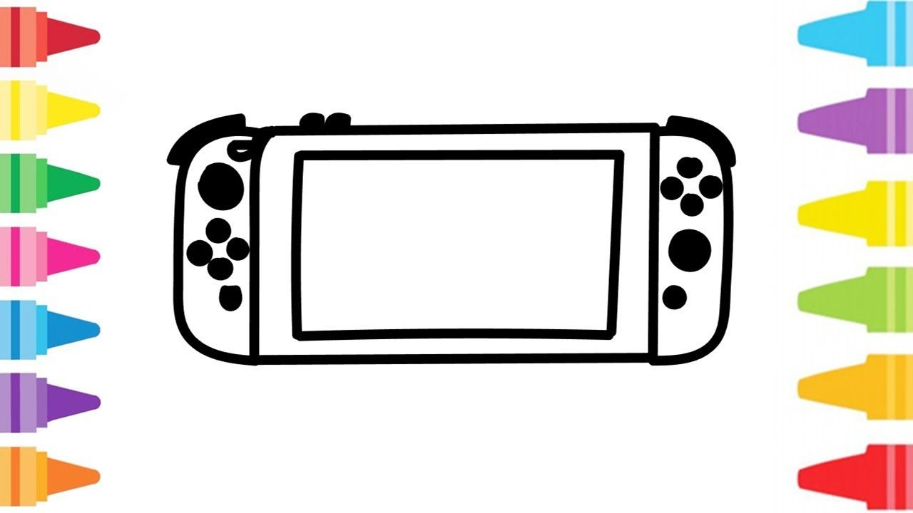 Glitter Nintendo Switch How To Coloring And Drawing For Kids Color Pag In 2021 Drawing For Kids Coloring For Kids Nintendo Switch