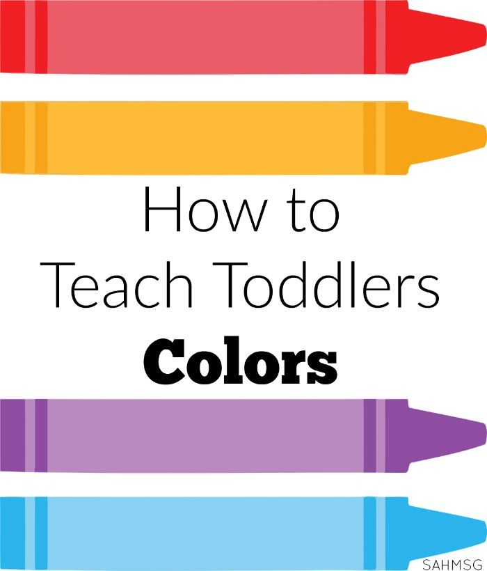 How to Teach Toddlers Colors Lesson plans for toddlers