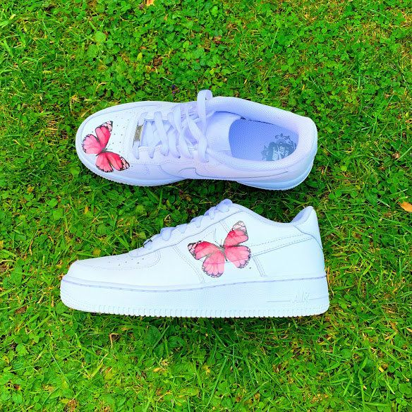 Custom Air Force 1 Low Single Pink Butterfly Air Force by