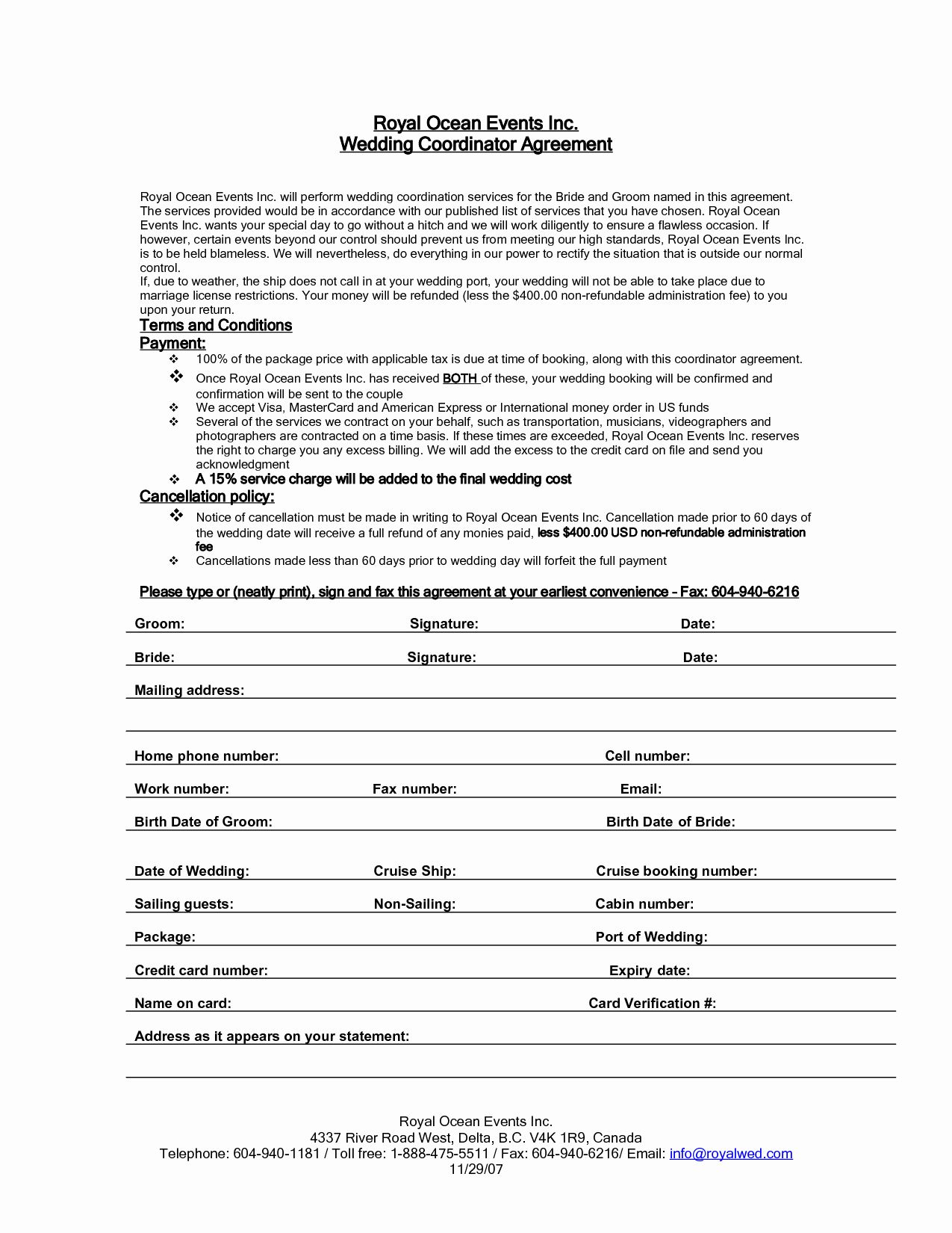 Event Planning Contract Template Free Beautiful Wedding Planner Contract Cover Letter Event Planning Contract Contract Template Event Planning Template Wedding planner contract template free
