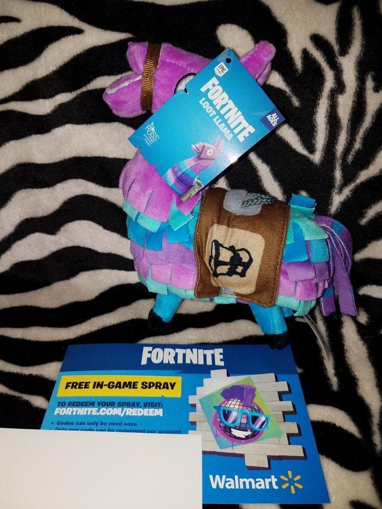 Fortnite Loot Llama Plush Toy Figure Doll Stuffed Animal In Game