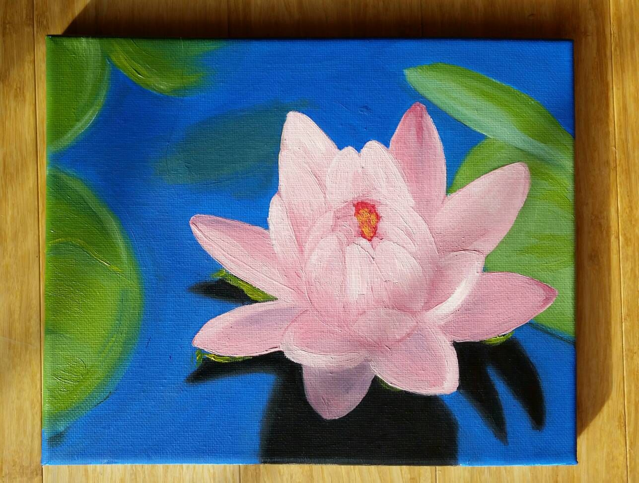 Oil painting lotus flower spring flower floral pink original artwork oil painting lotus flower spring flower floral pink original artwork by couturepapillon on etsy on izmirmasajfo