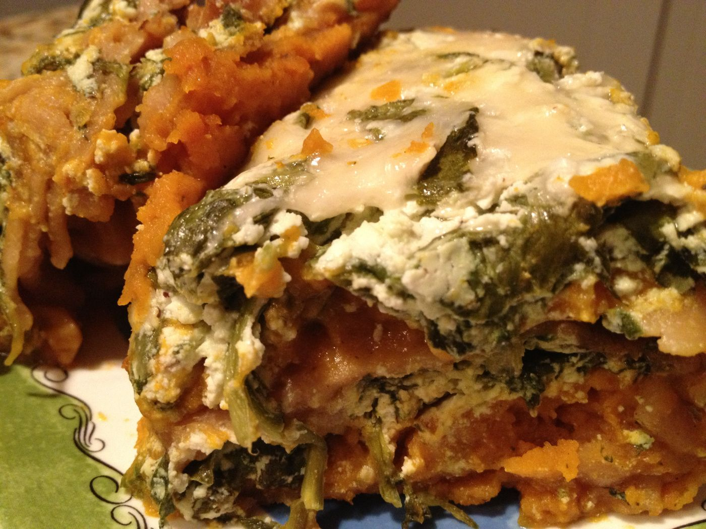 Spinach butternut squash lasagna