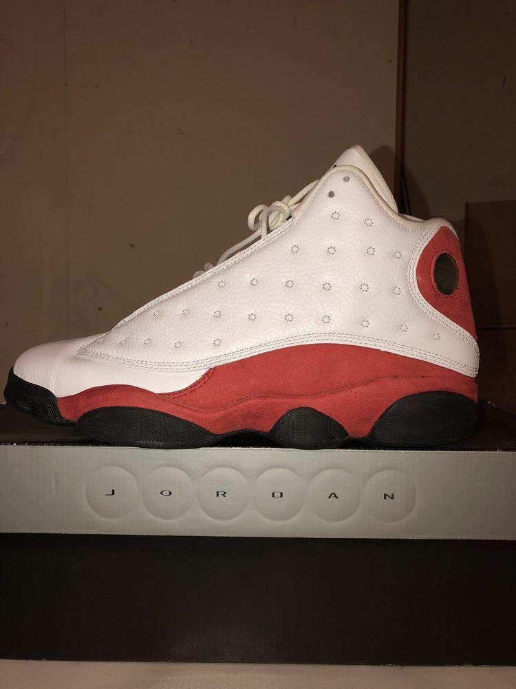 49713729ee0fb air jordan retro 13 White/Red. Size 10 #fashion #clothing #shoes ...