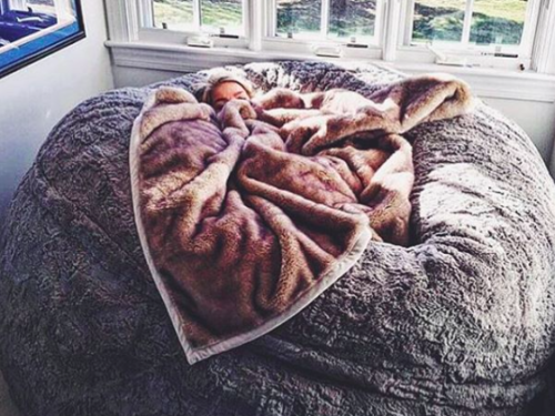 This Lovesac pillow chair is as big as a bed and you'll