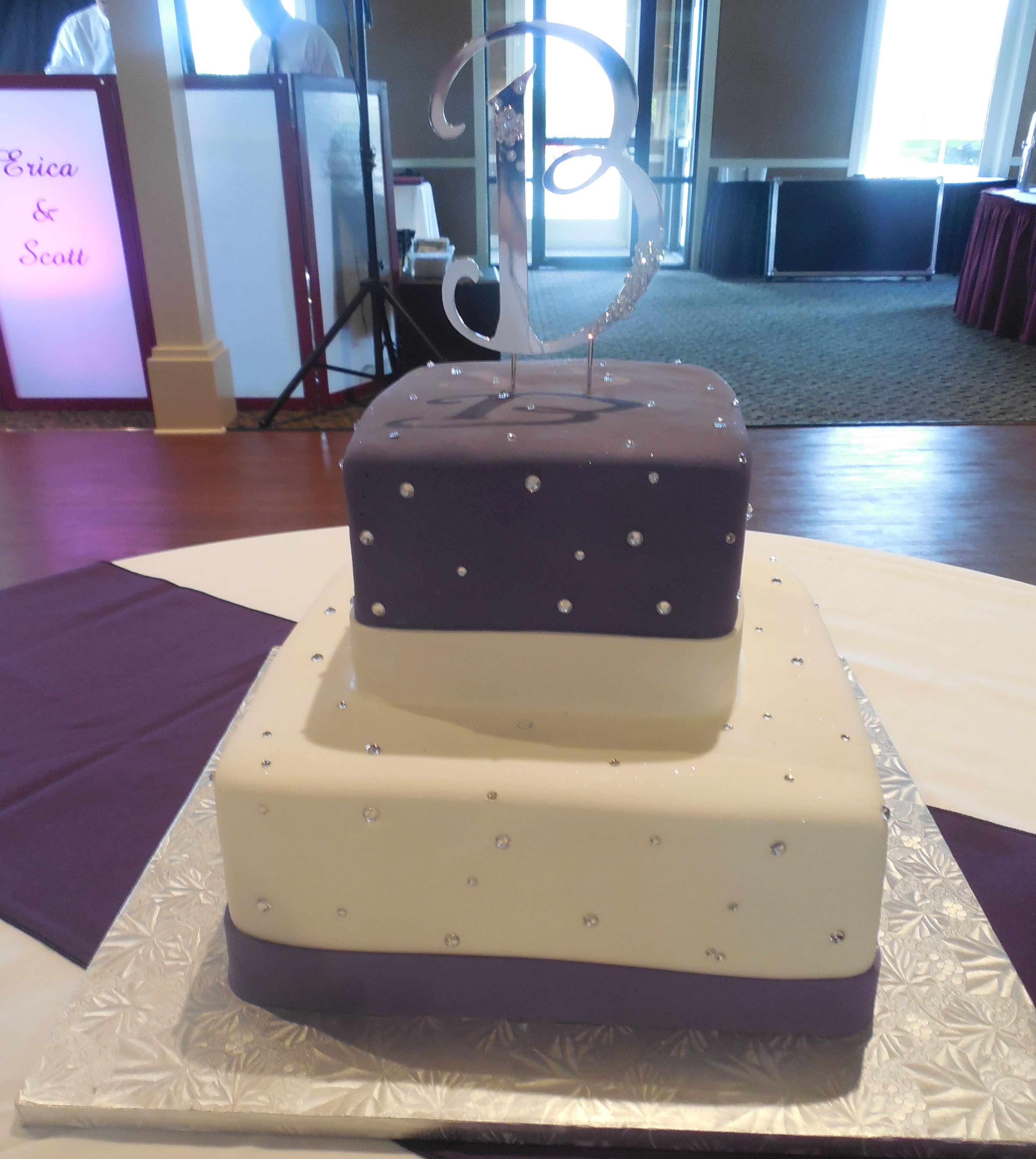 Calumet Bakery f white deep purple fondant with
