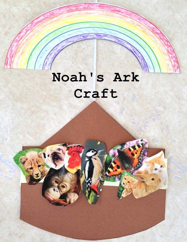 Noah 39 s ark craft for kids printable ark and rainbow for Noah s ark preschool craft