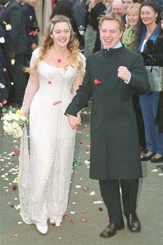 Celebrity Wedding Dresses Kate Winslet Casais Famosos Vestidos Vestido De Noiva