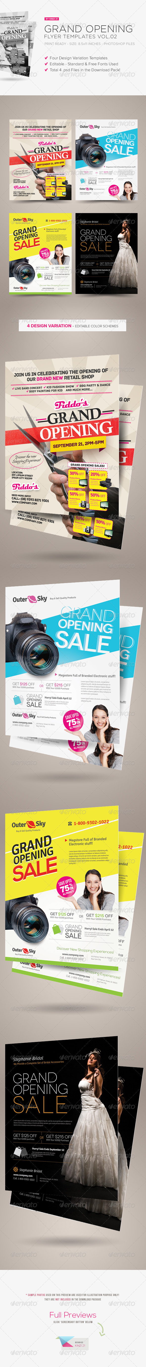 Grand Opening Flyers Vol  Grand Opening Flyer Template And