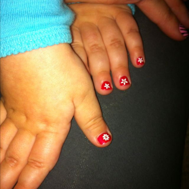 Toddler Nails. Polish And Cute Nail Stickers. Boy Does She