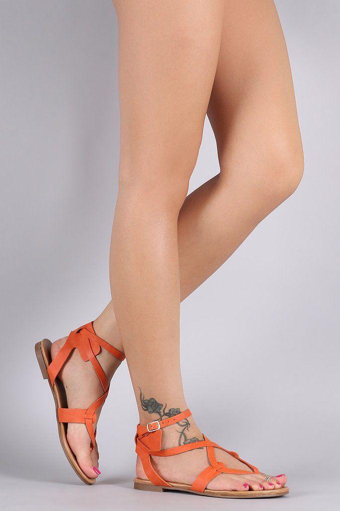 Breckelle Infinity Straps Flat Sandal – Style Lavish