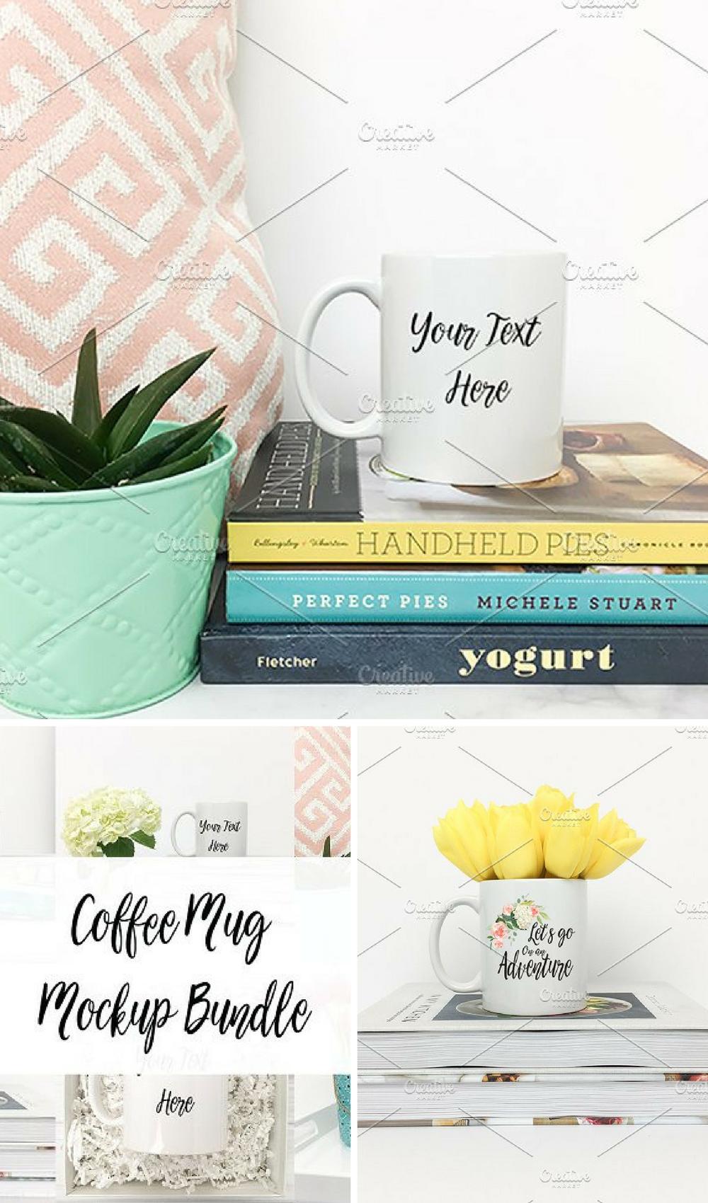 Coffee Mug Mockup Bundle These coffee mug mockup stock