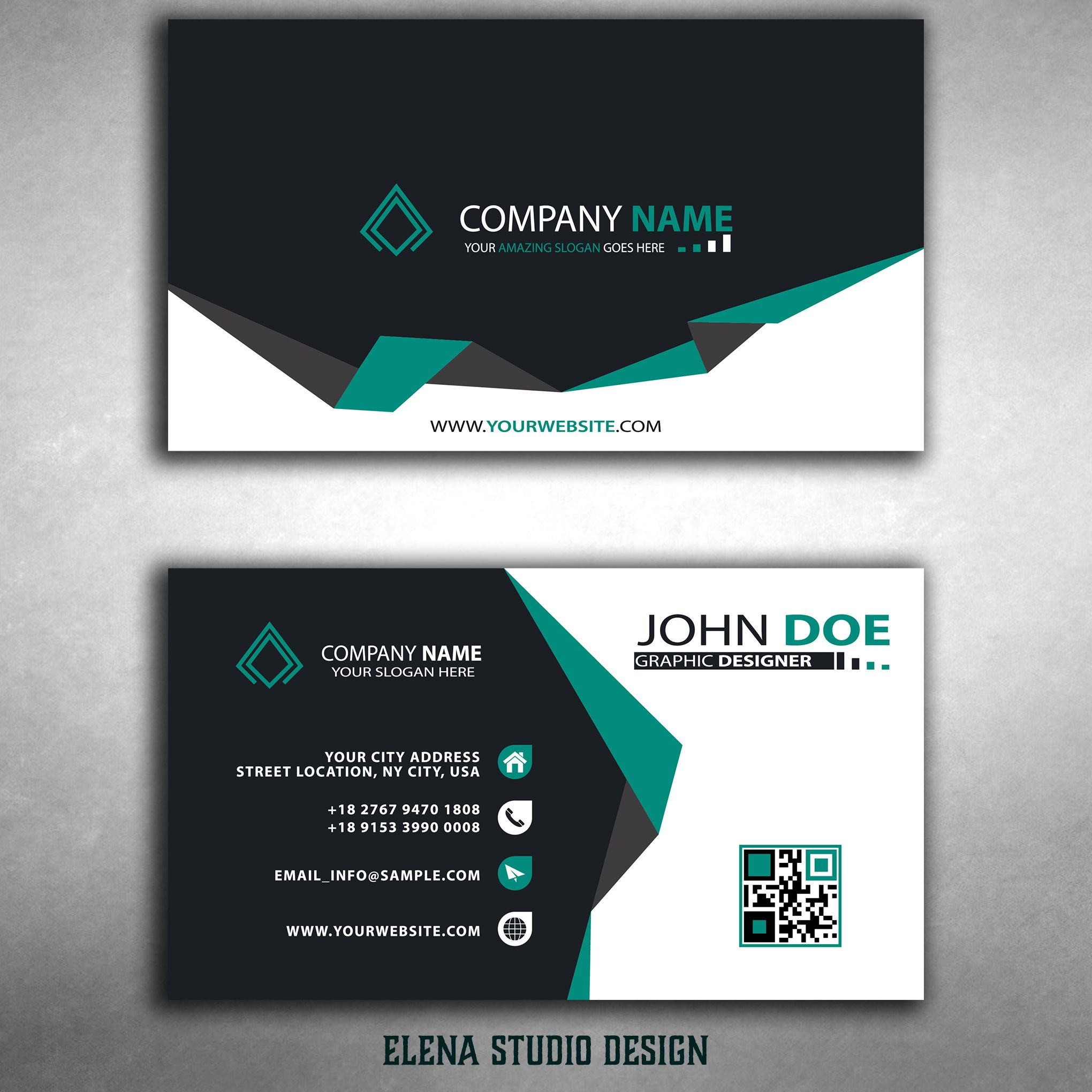 Orizontal Business Cards | logo design | Pinterest | Ai ...