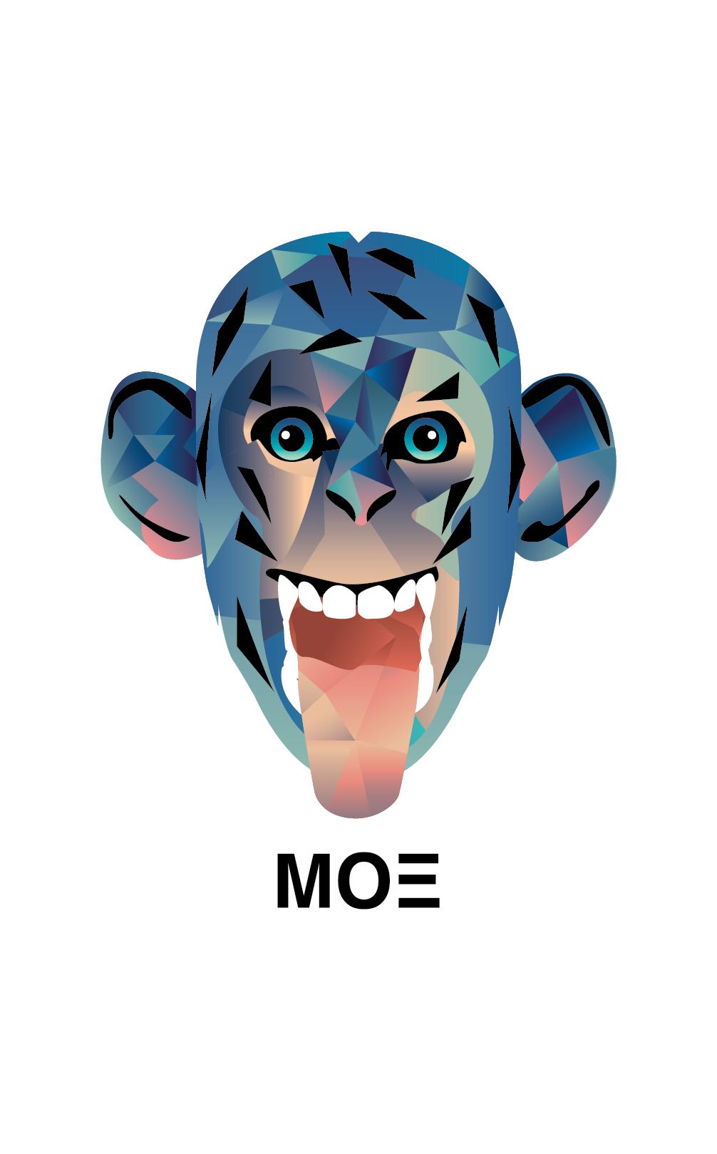 monkey mono moe ilustracion #cristianmoeguzman #graphicdesign ...