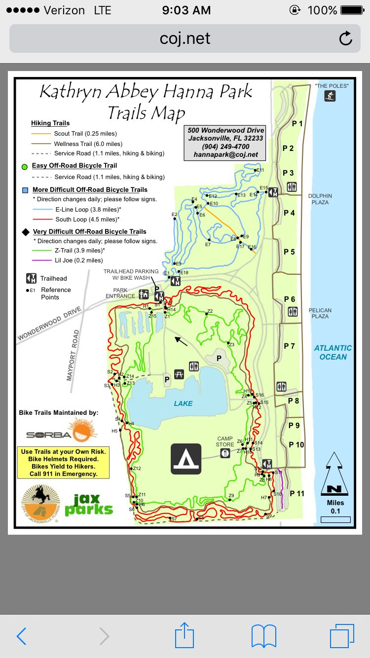 Hanna Park Map Kathryn Abbey Hanna Park in Jacksonville FL   operated by the city