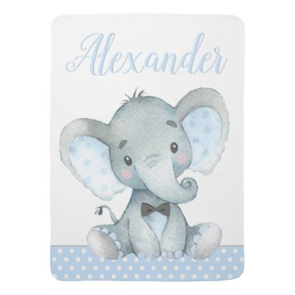 Boy elephant baby blankets baby gifts child new born gift idea boy elephant baby blankets baby gifts child new born gift idea diy cyo special unique negle Image collections