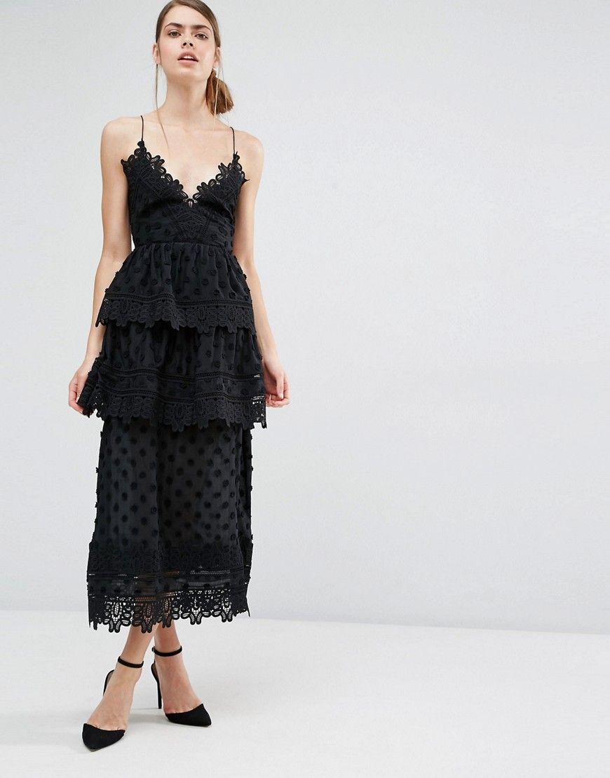 05ebd3da1db4 Self Portrait Ivy Lace Trim Midi Dress | What should I wear today ...