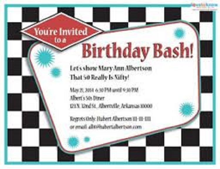 50th Birthday Invitations Template Free