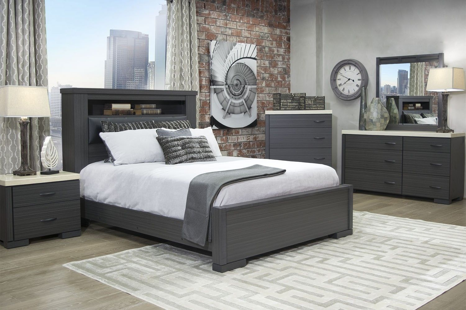 Incroyable Mor Furniture For Less The Motivo Queen Bookcase Bed