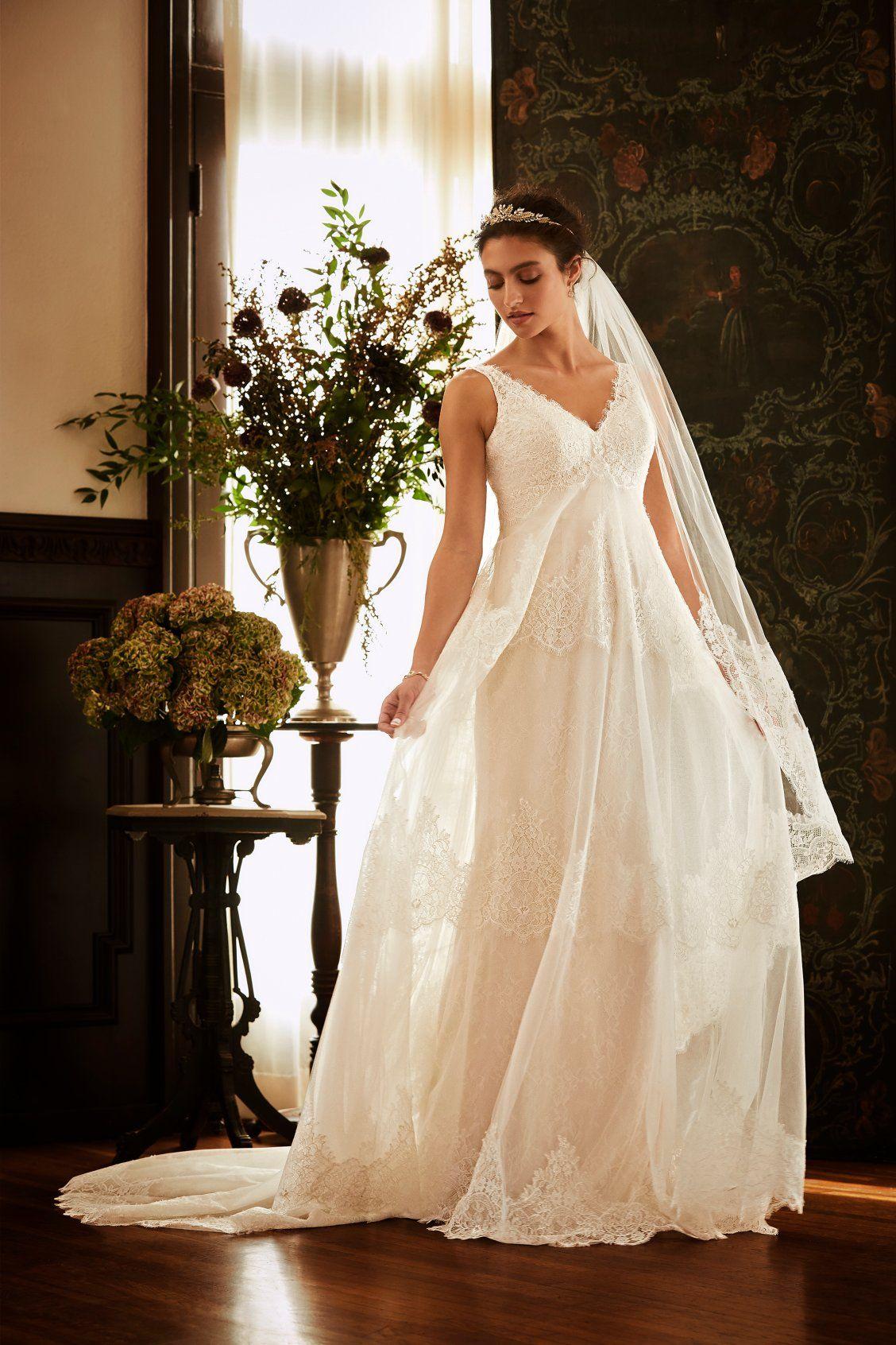 An Eyelash Lace A Line Wedding Dress For Vintage