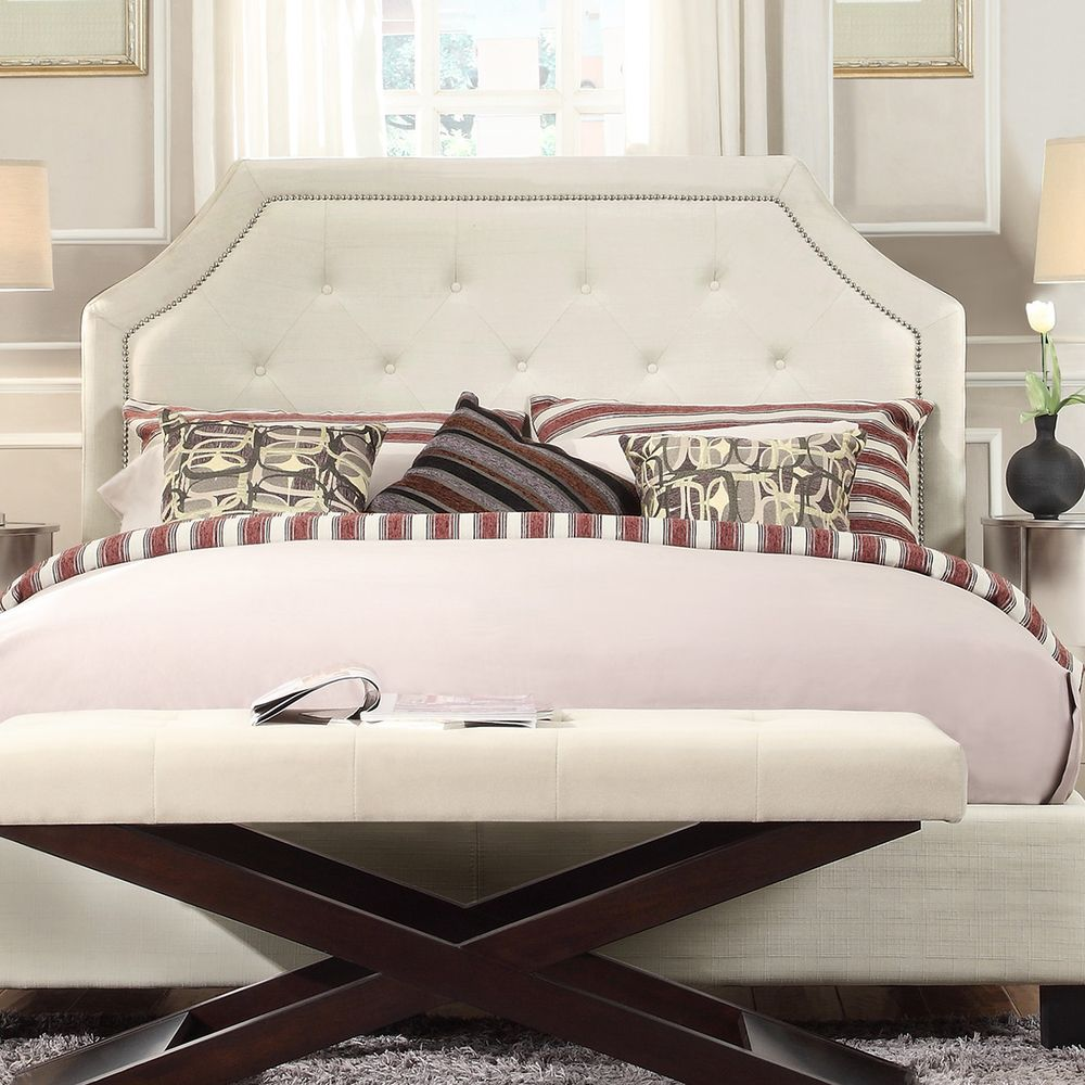 Marvelous Grace Button Tufted Fabric Headboard With Nailhead Trim By INSPIRE Q Bold    Overstock.com Shopping   The Best Deals On Headboards