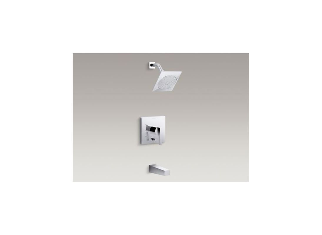 Kohler K-T99763-4 Honesty Tub and Shower Trim Package with Single Function Showe Polished Chrome Faucet Tub and Shower Single Handle