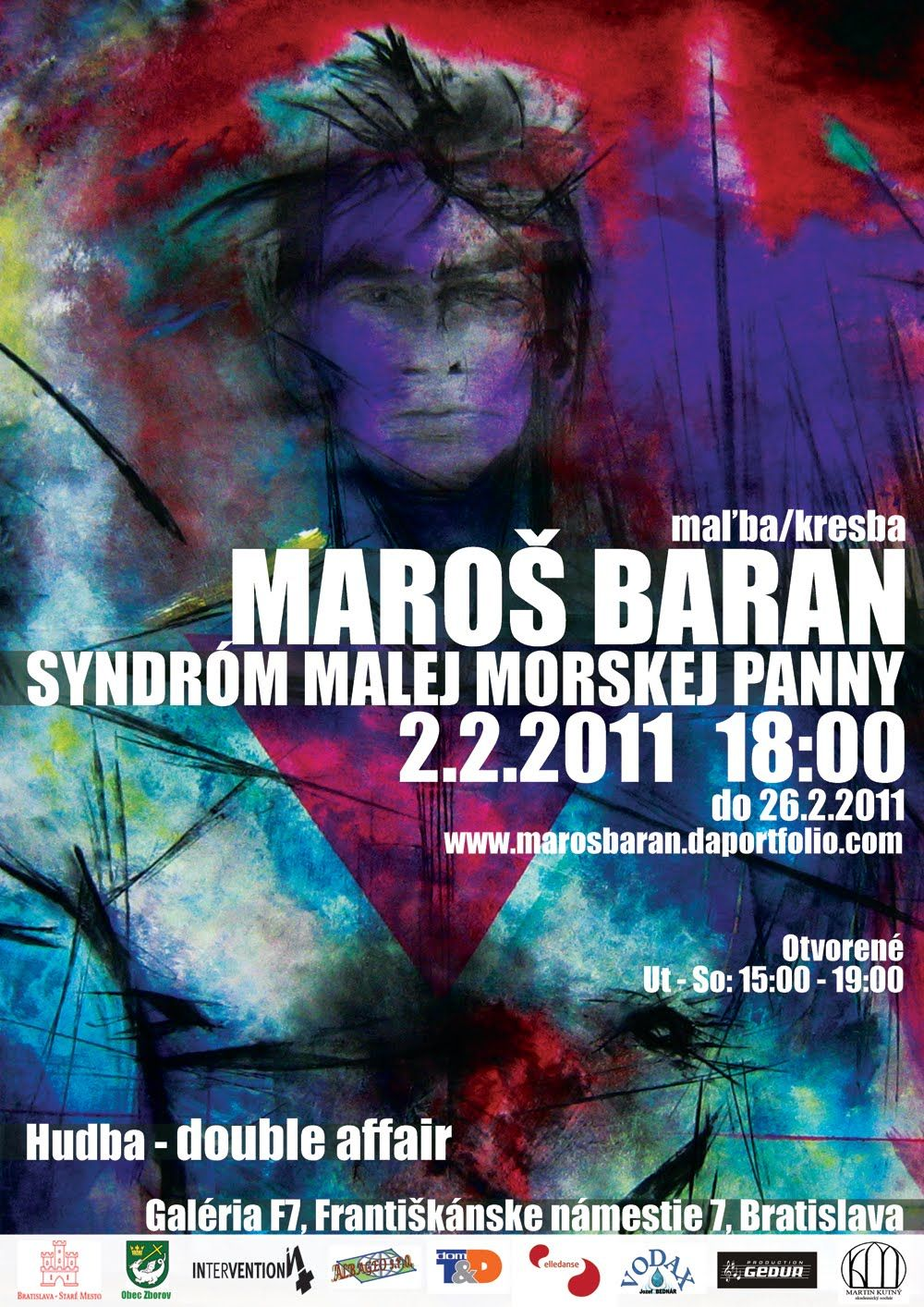 MAROŠ BARAN - THE LITTLE MERMAID SYNDROME 2011    exhibition trailer, music - double affair    (2.2.2011 - 26.2.2011) -- F7 Gallery, Františkánske námestie 7, Bratislava