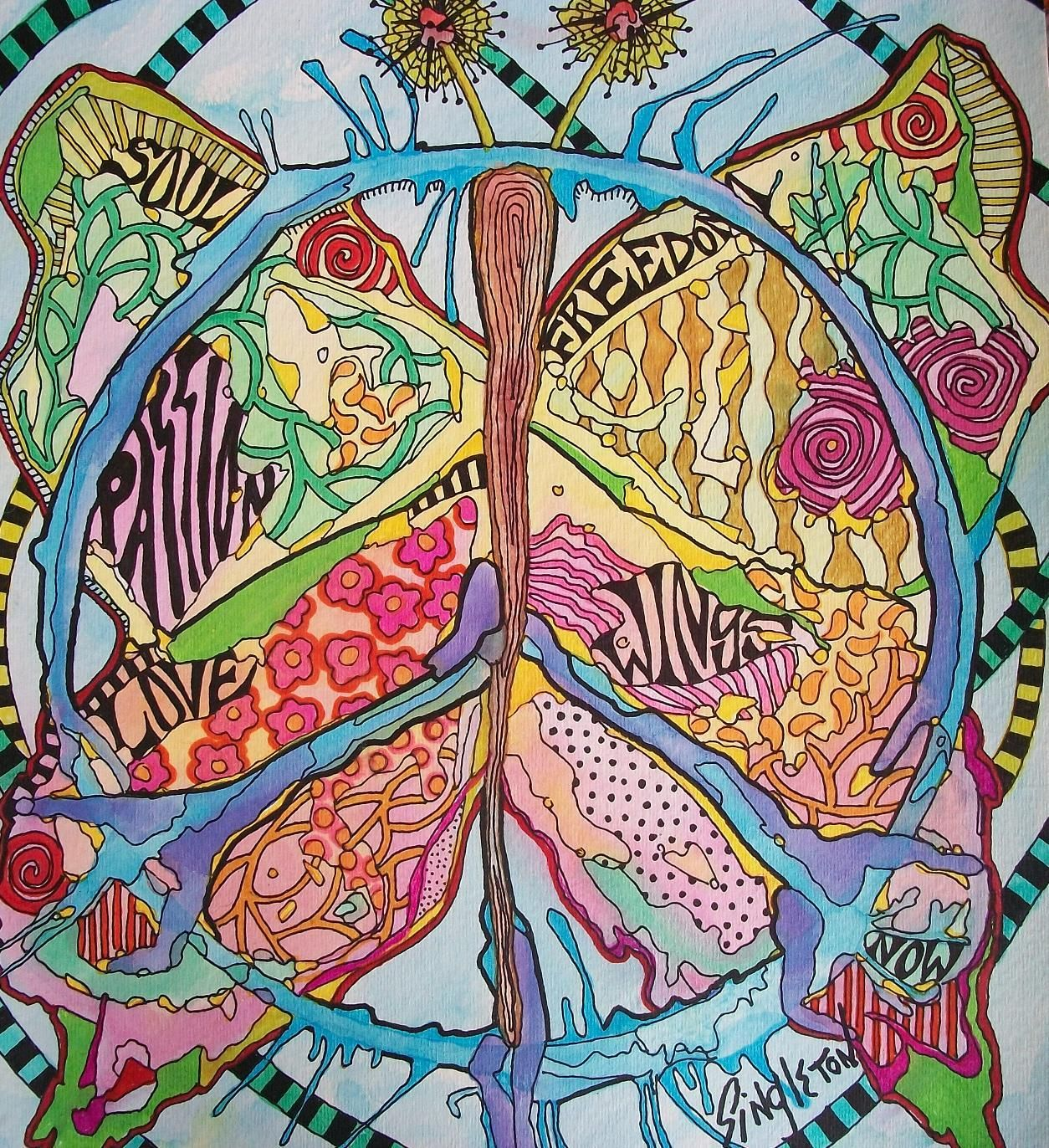 one heart blending with more | Peace Designs | Pinterest | Peace ...
