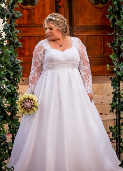 Awesome Fuller figured brides can get custom plus size wedding dresses u replicas made for an