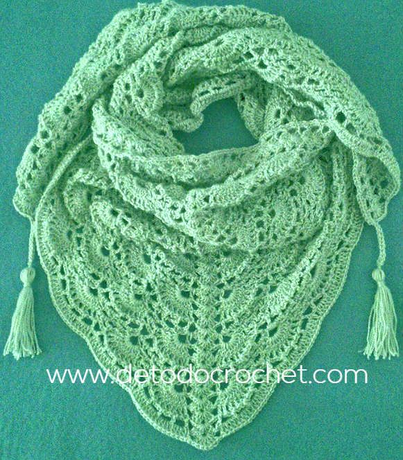 Todo crochet | Pinterest | Chal, Ganchillo y Tejido