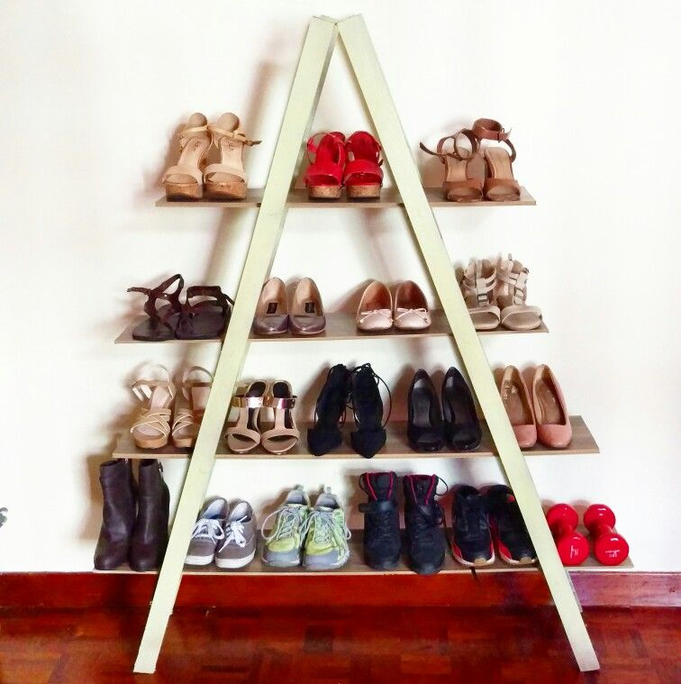 The Pyramid Ladder Inspired Shoe Rack Shoe Rack Idea Chalk