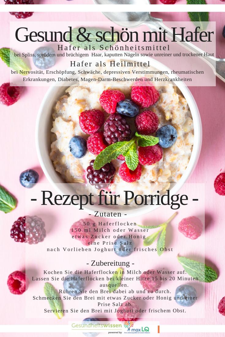 Gesund und schön mit Hafer: einfache, köstliche Rezepte für Brei und Brei   – Gesund & Schön | Tipps für Ihre Schönheit | Diät