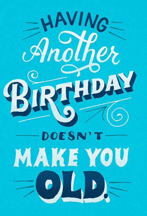 Hallmark Birthday Cards On Behance Hallmark Birthday Card Happy Birthday Typography Happy Birthday For Her