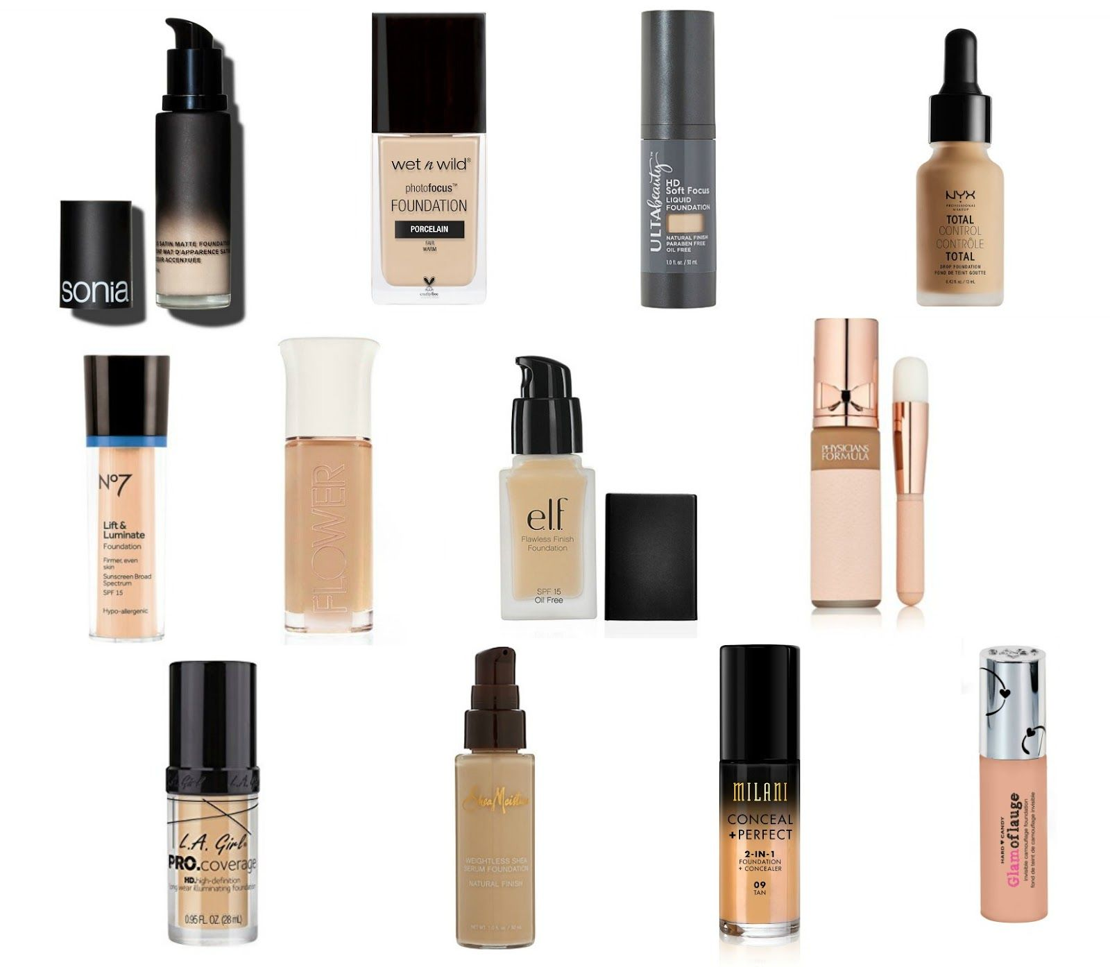 12 CRUELTY FREE DRUGSTORE FOUNDATIONS UNDER 15