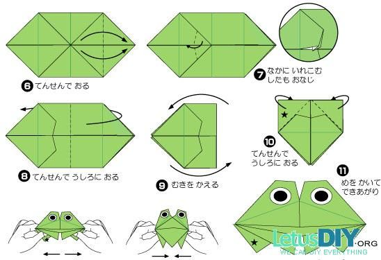 how to make an origami crocodile instructions