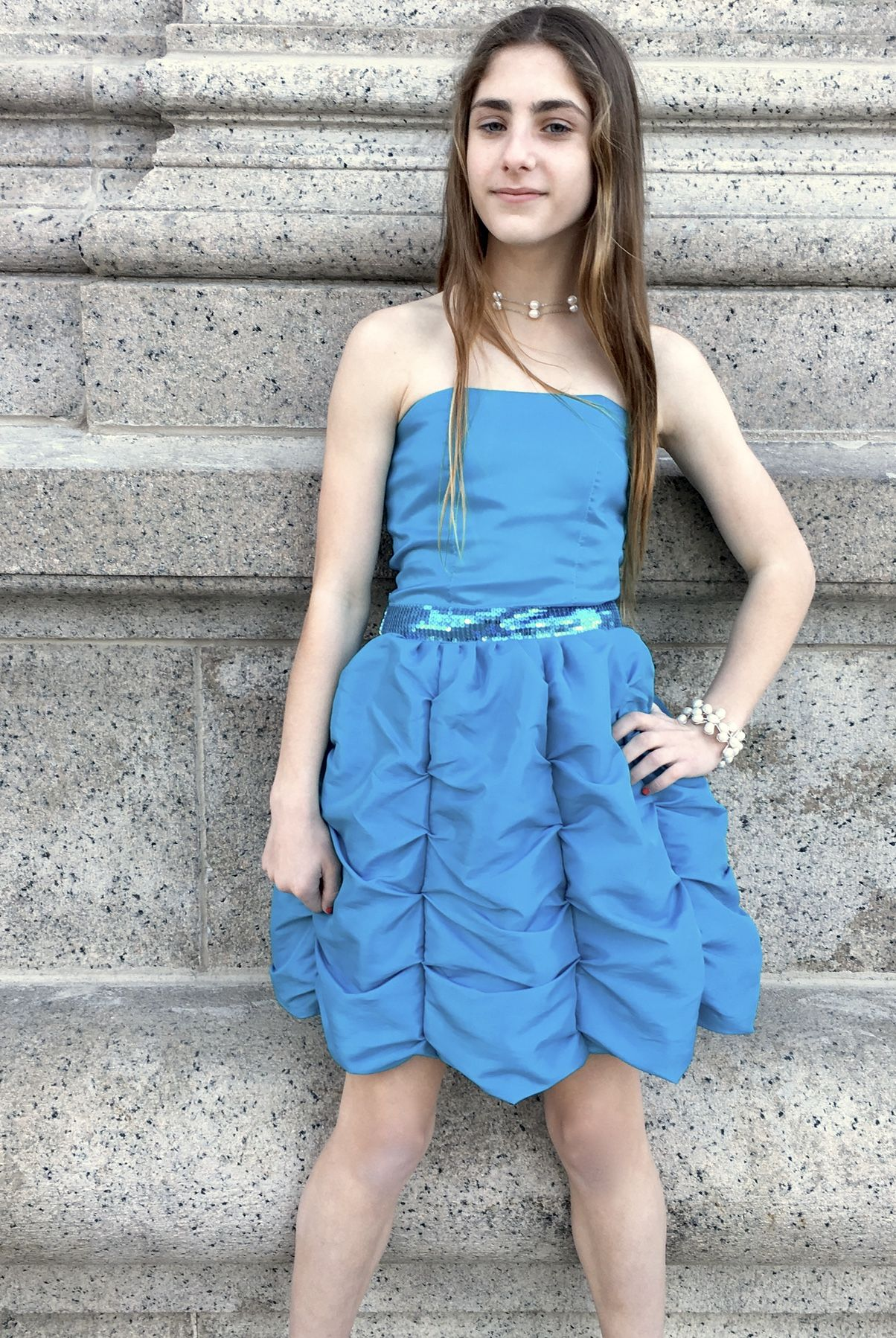 SUZANNAH dress in Aquarella | 10 Bat Mitzvah Dresses That Won\'t ...